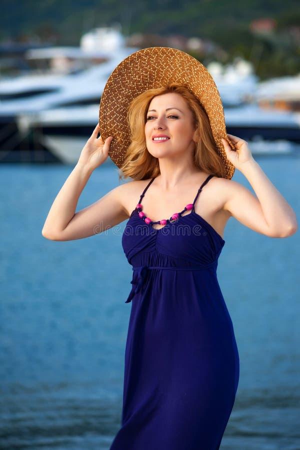 Woman&yachts-010 immagine stock libera da diritti
