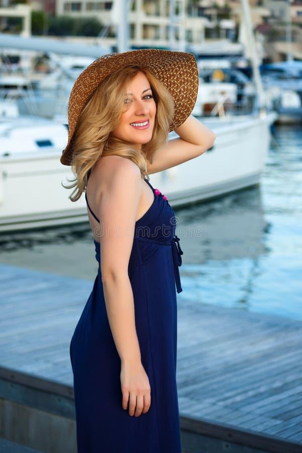 Woman&yachts-002 immagine stock libera da diritti