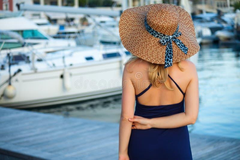 Woman&yachts-004 immagini stock libere da diritti