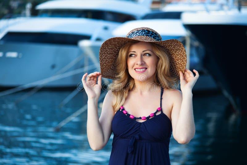 Woman&yachts-009 fotografia stock