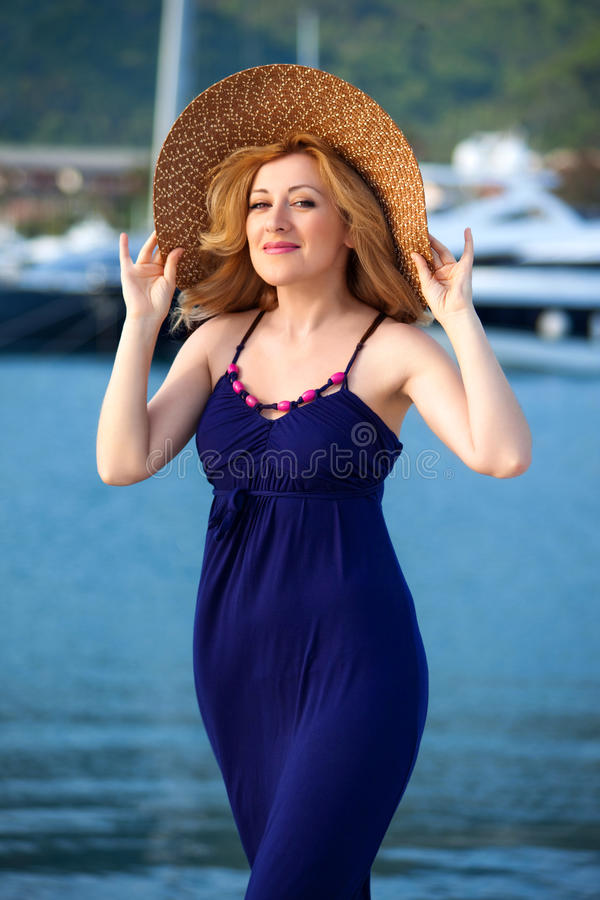 Woman&yachts-012 immagine stock