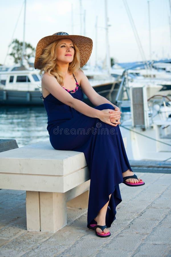 Woman&yachts-005 fotografia stock libera da diritti