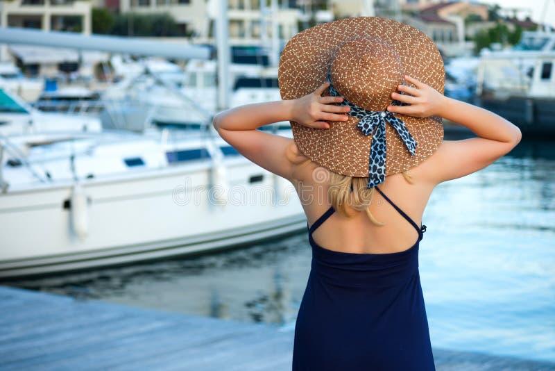 Woman&yachts-003 fotografia stock