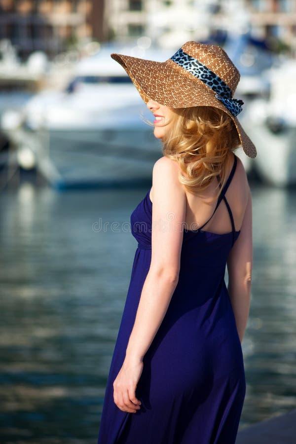 Woman&yachts-013 immagini stock
