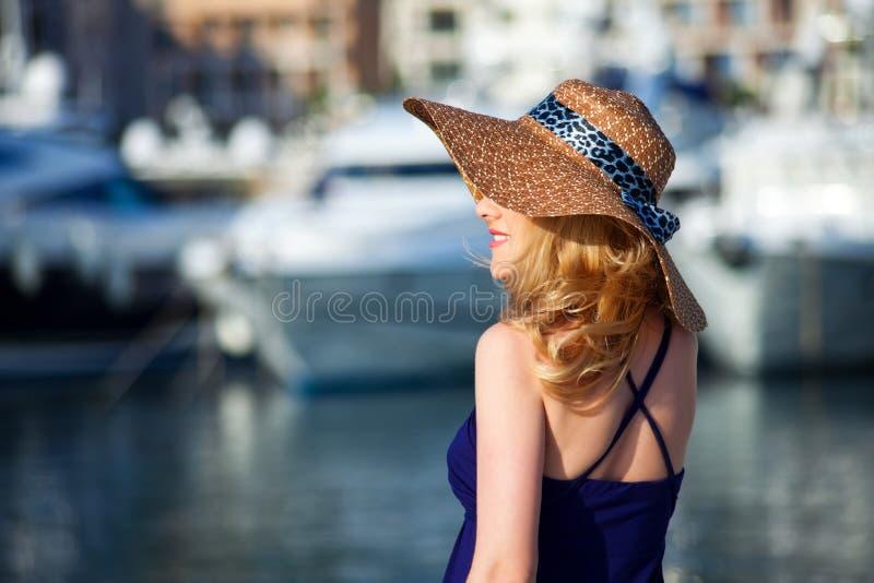 Woman&yachts-014 fotografie stock libere da diritti