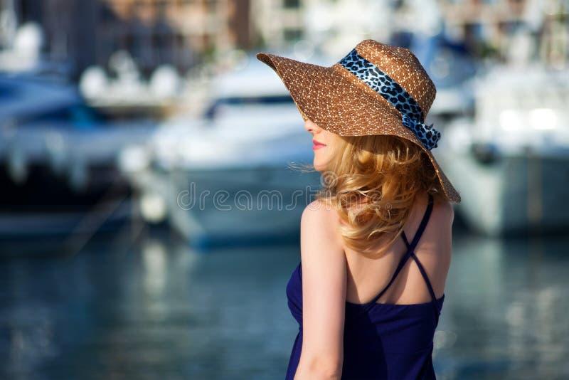 Woman&yachts-015 immagini stock