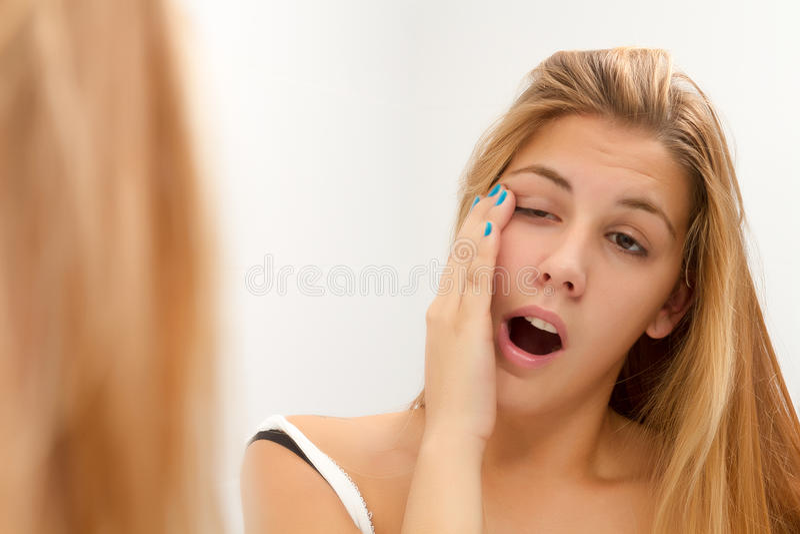 Download Woman yawing stock image. Image of pyjamas, beautiful - 34415555