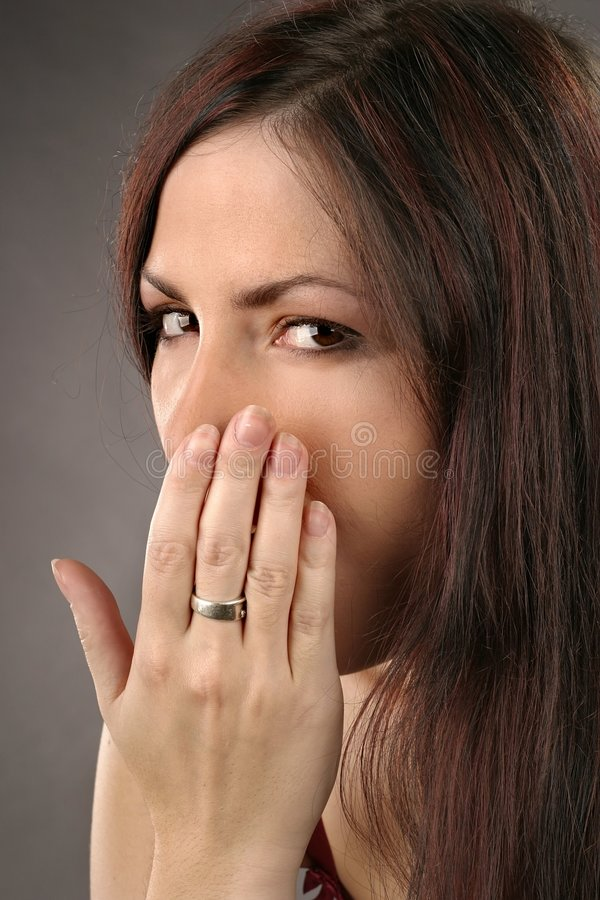 Download Woman yawning stock image. Image of auburn, yawning, young - 1291089