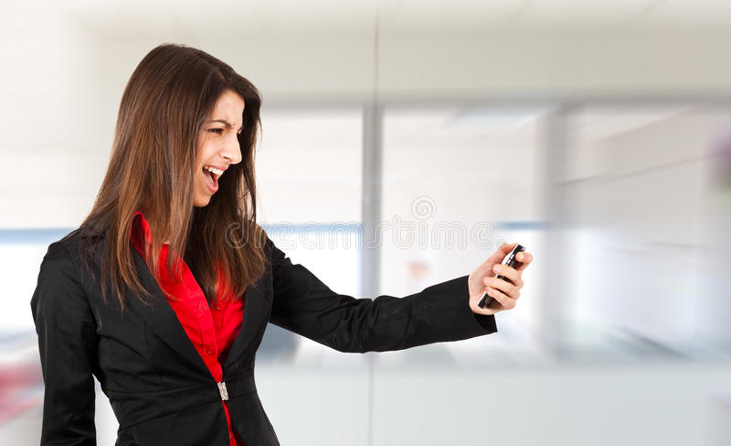 Woman Yelling Stock Photography