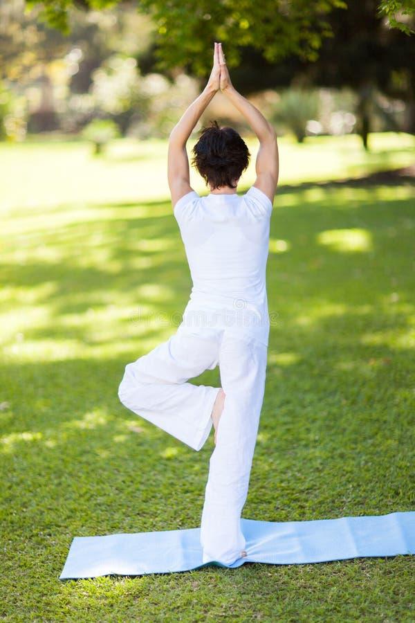 Woman yoga outdoors