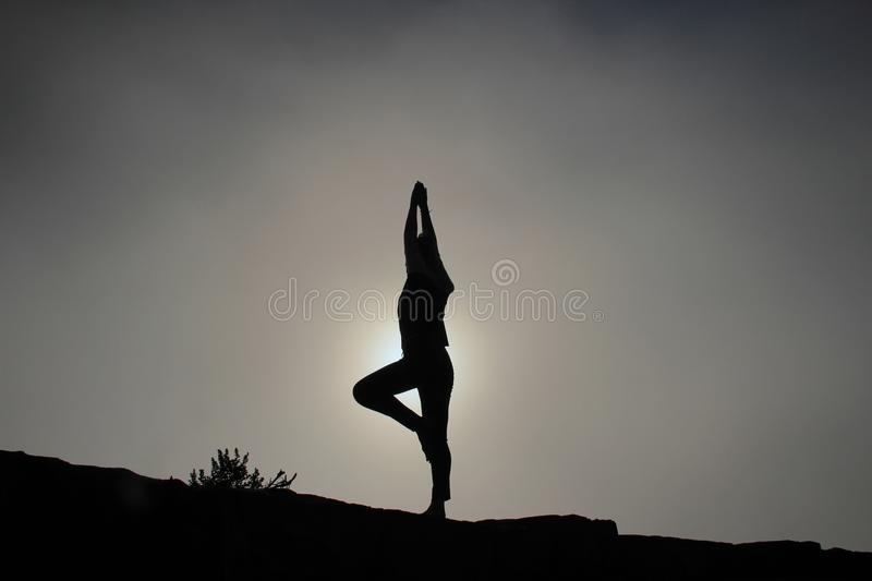 Woman In Yoga Pose Outdoors Free Public Domain Cc0 Image