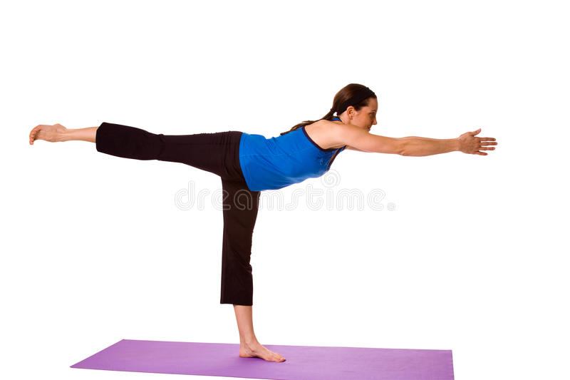 Download Woman in Yoga Position stock photo. Image of attractive - 12004102