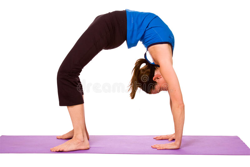 Download Woman in Yoga Position stock photo. Image of discipline - 12004166