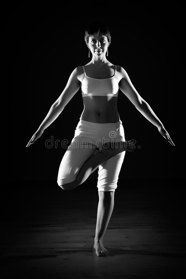 Download Woman in yoga position stock image. Image of caucasian - 18907639