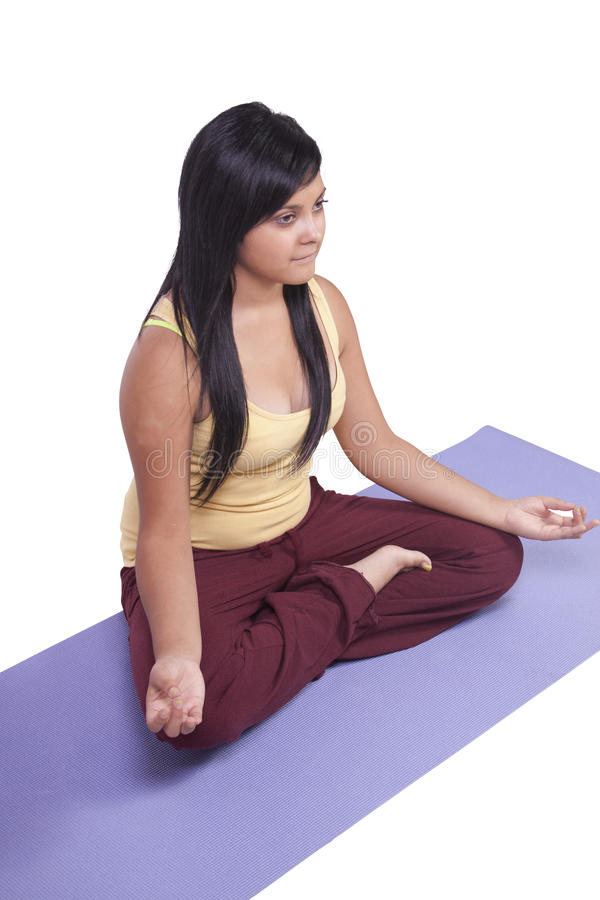 Download Woman In Yoga Position Stock Photography - Image: 22643712