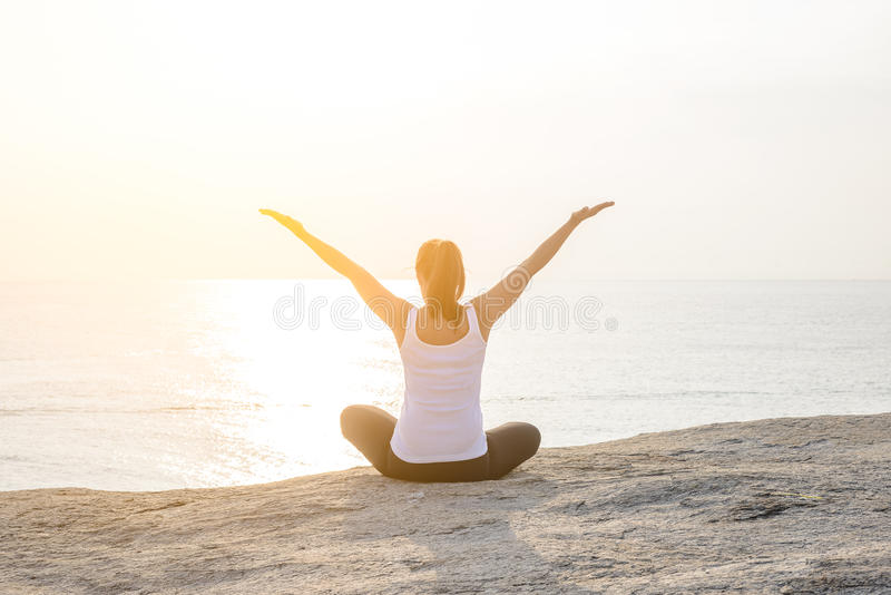 Woman Yoga is relax royalty free stock images
