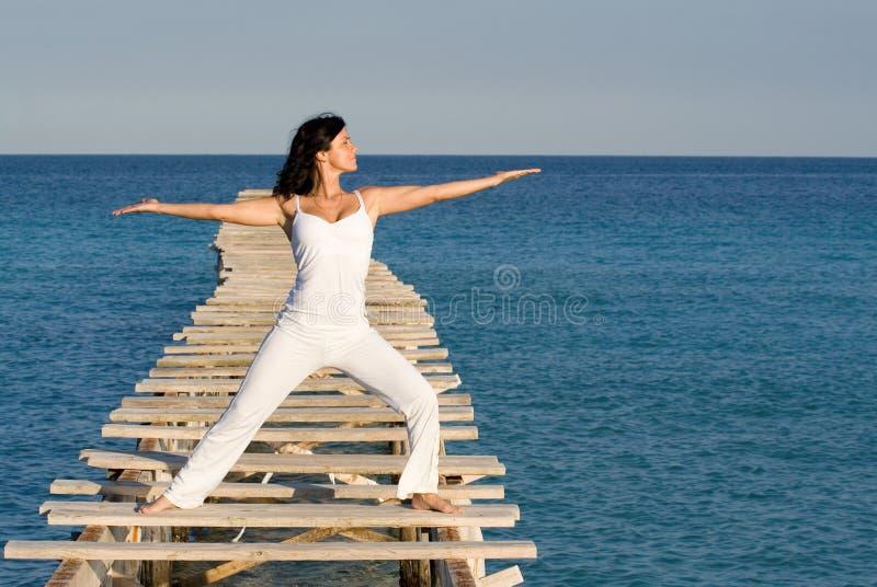 Woman , yoga or tai chi stock image