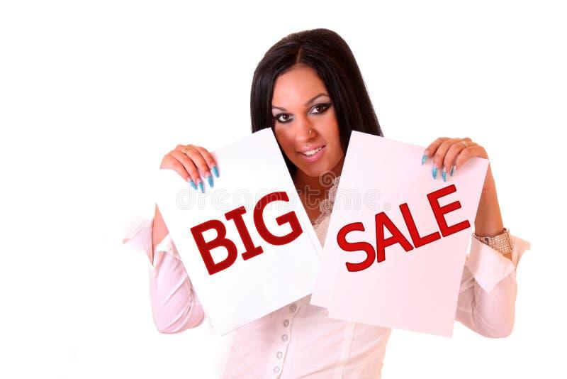 Womand e grande vendita immagini stock libere da diritti