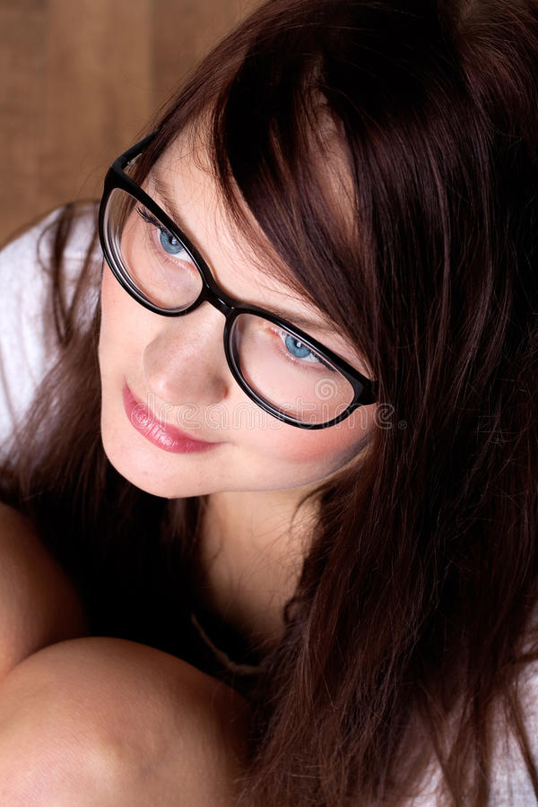 Womanin fashion glasses