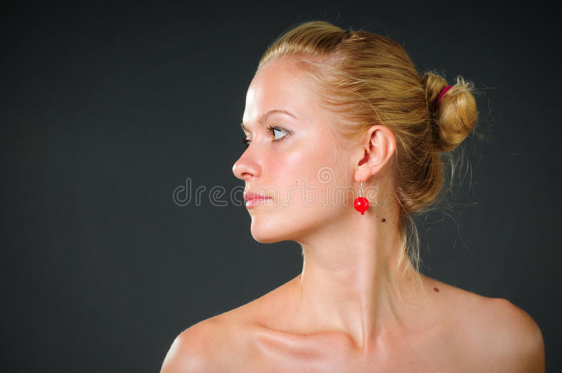 Womanish beauty and health stock image