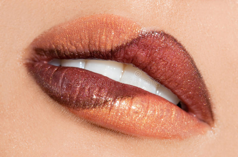 Download Womanish lips stock image. Image of gloss, expressions - 15189101