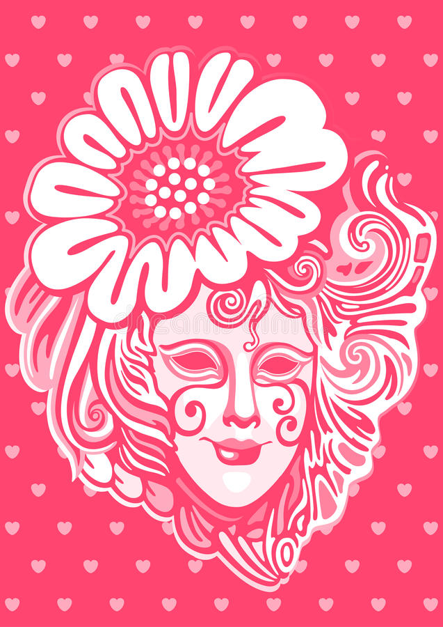 Download Womanish mask stock vector. Image of theater, head, scenery - 25891733