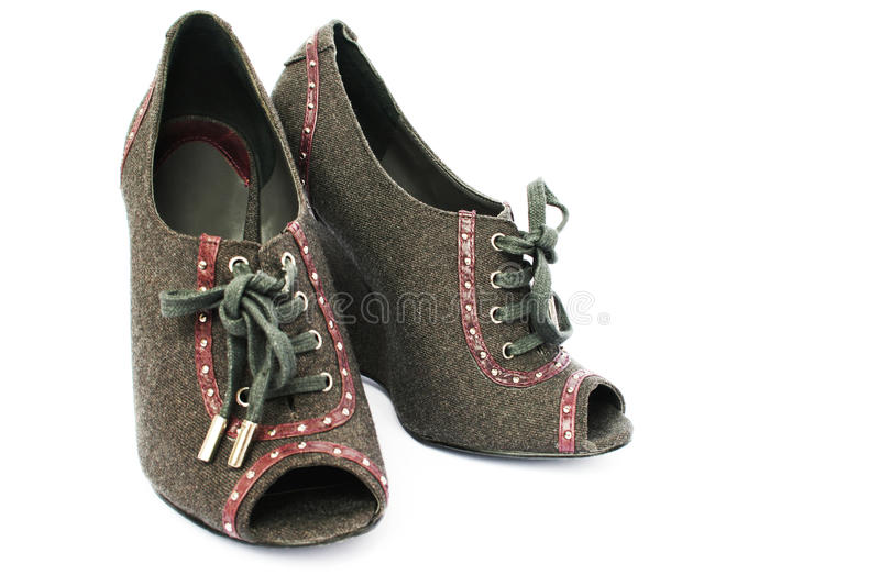 Womanish Shoes Royalty Free Stock Images