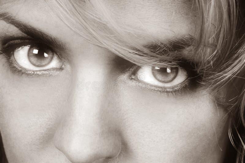 Womans Augen stockfoto