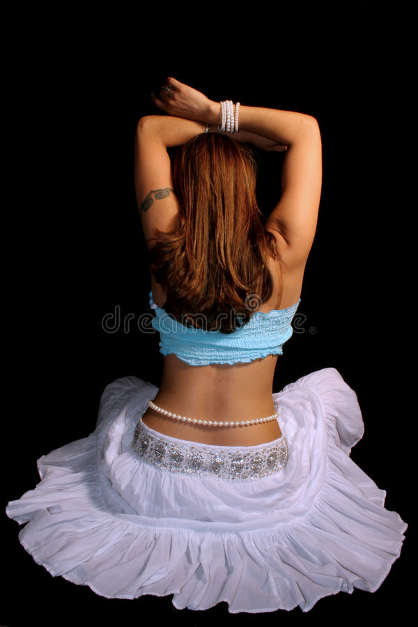 Womans Back royalty free stock image