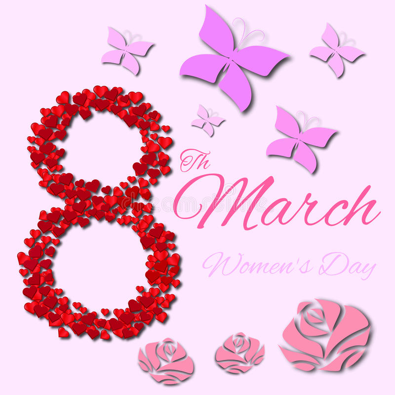 Womans Day design royalty free illustration