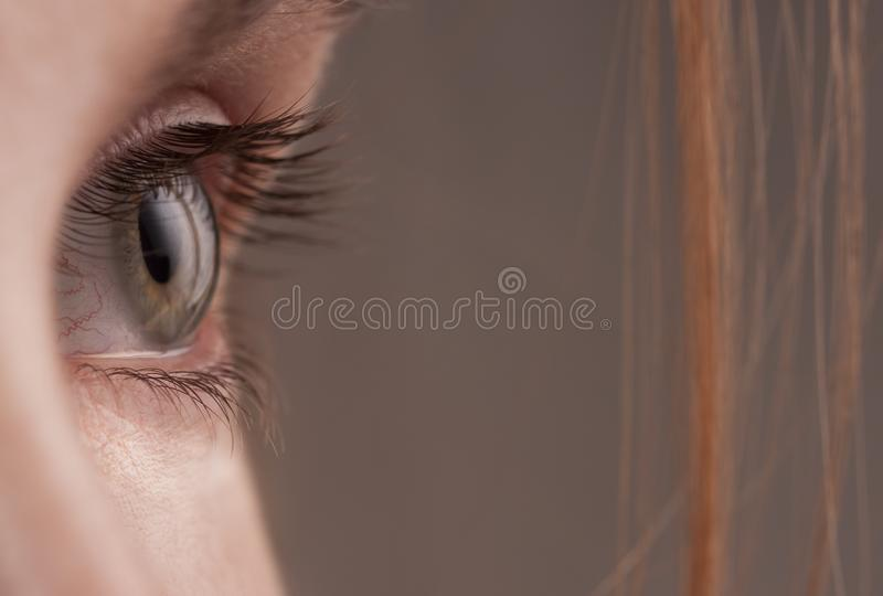 A womans eye close up stock photos
