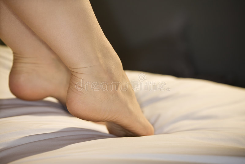Womans Füße. lizenzfreie stockbilder