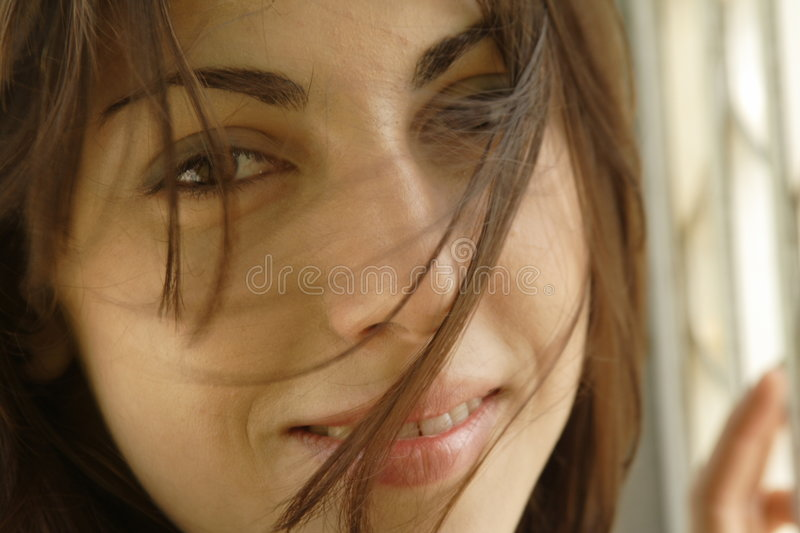 Womans Face stock image