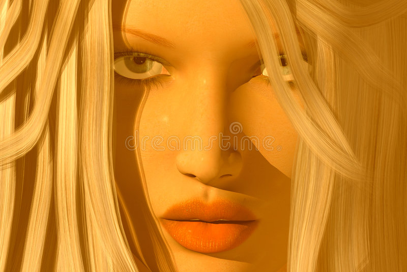 Womans face royalty free stock image
