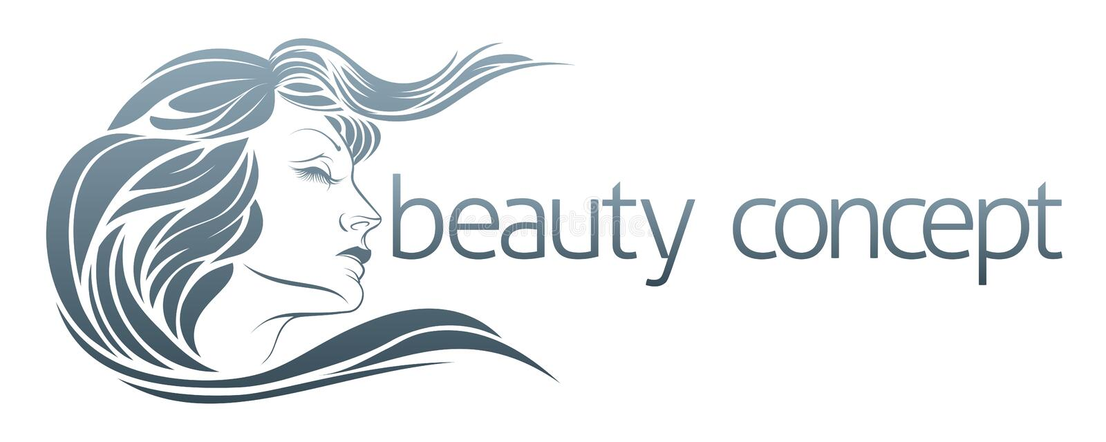 Womans Face Concept. For hairdresser, spa or other beauty lifestyle use vector illustration