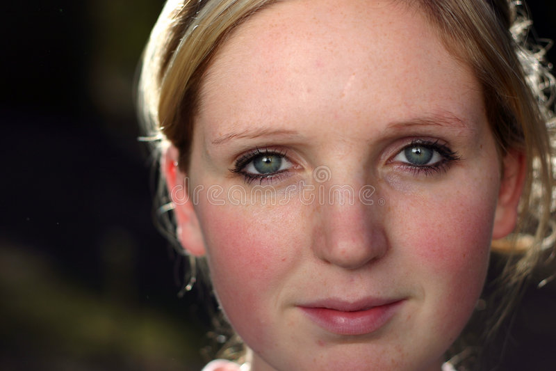 Womans Gesicht stockfotos