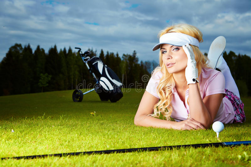 Download Womans golf stock photo. Image of cute, sporty, adult - 19610976