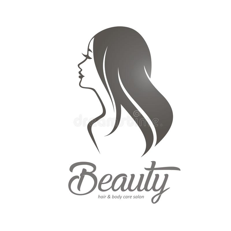 Womans hair style stylized sillhouette vector illustration