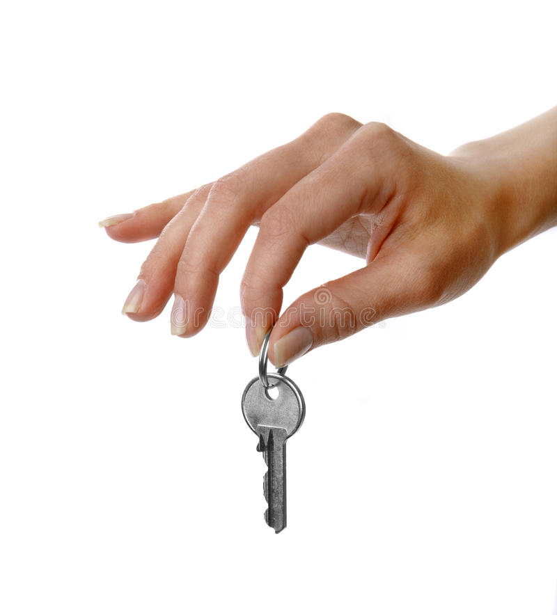 Womans Hand Holding A Key Stock Image
