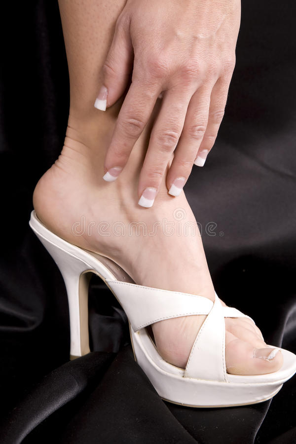 Download Womans Hand On Side Of Foot Stock Image - Image: 11654163