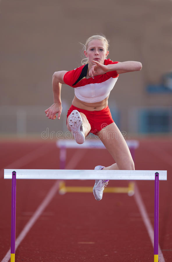 Download Womans Hurdles stock image. Image of succeed, field, outdoor - 34487705