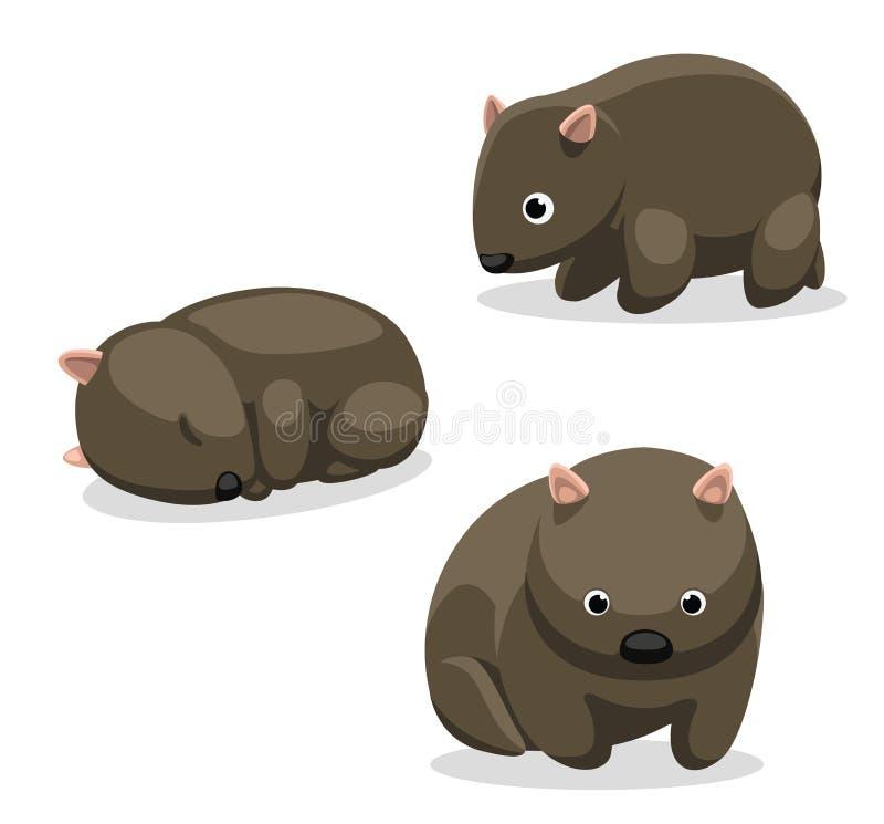 Wombat-Karikatur vektor abbildung