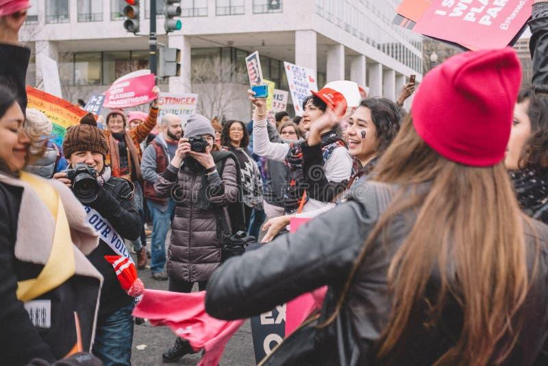 Women's март на Вашингтоне стоковая фотография