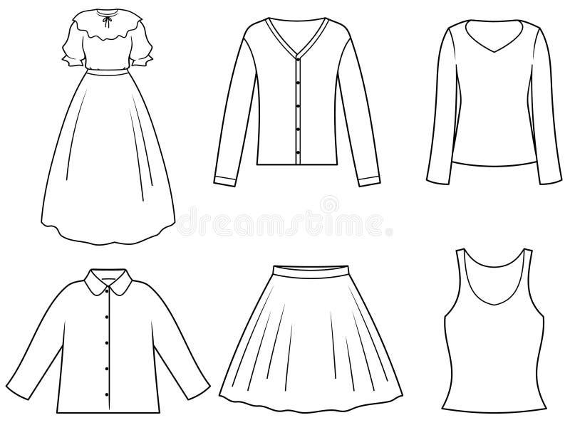 Women's clothes stock illustration