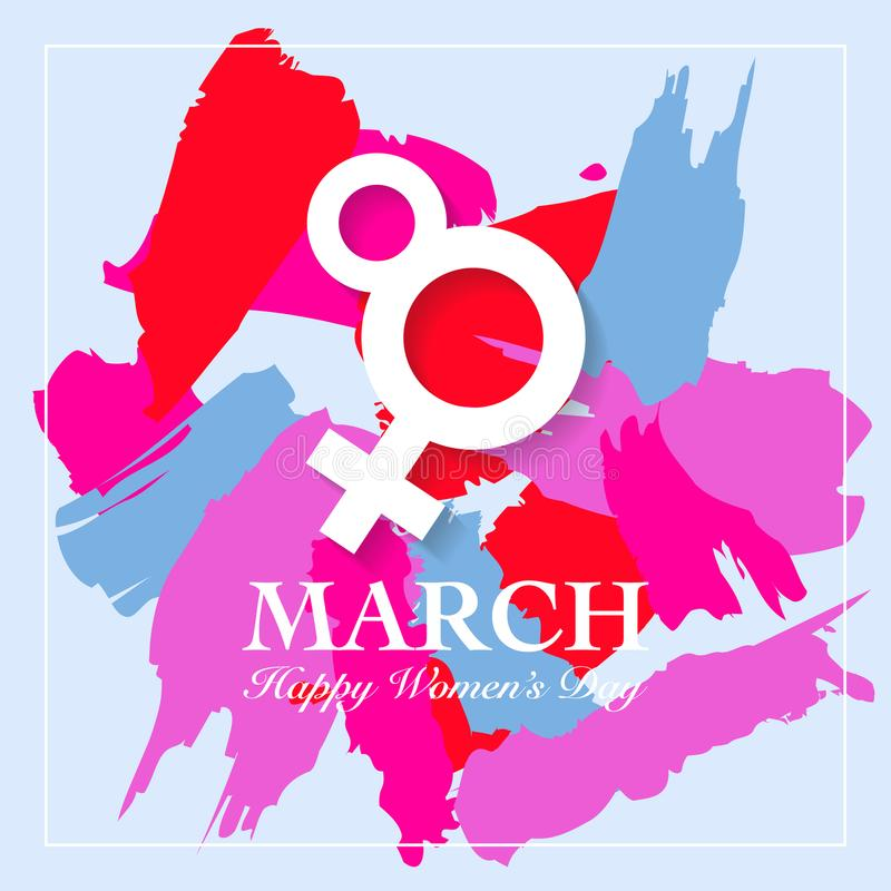 Women's dagkort stock illustrationer