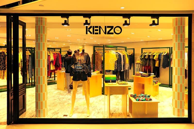 Kenzo dräktlager Hong Kong royaltyfri fotografi