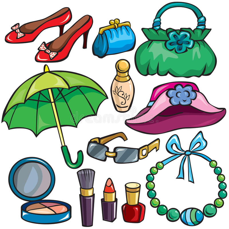 Free Women Accessories Icon Set Royalty Free Stock Photography - 21478857