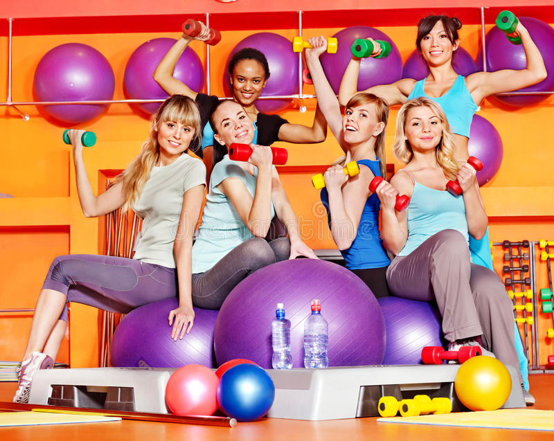 Women In Aerobics Class. Royalty Free Stock Image