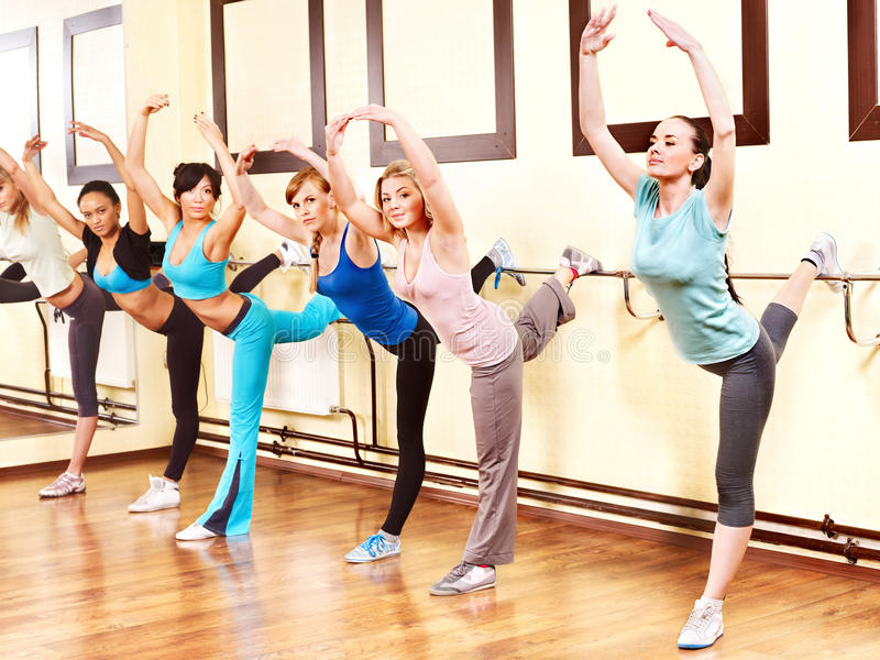 Download Women in aerobics class. stock image. Image of african - 24459369