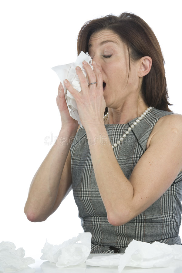 Women with allergies royalty free stock images